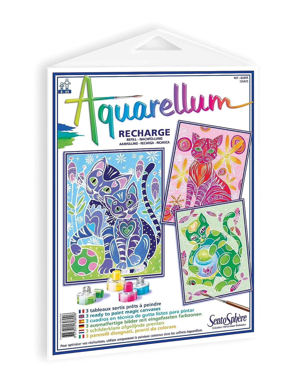 Sentosph/ère 3900628 Aquarellum Cats Refill for Painting Set