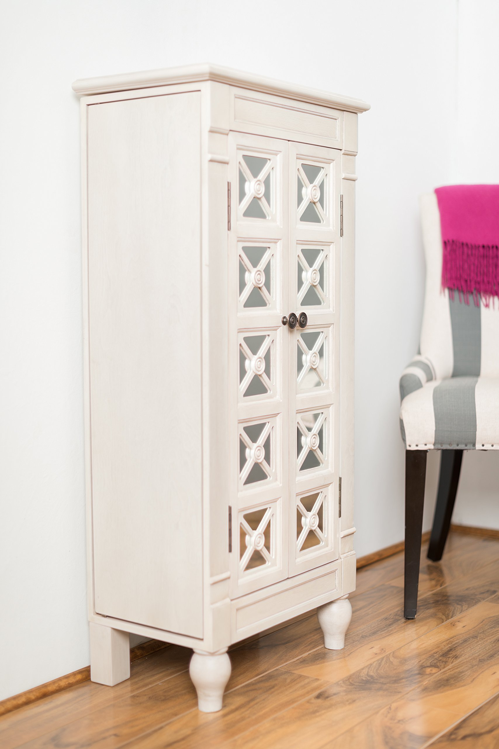 Hives and Honey ''Celene'' Jewelry Armoire, Century White by Hives and Honey (Image #2)