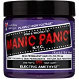 Manic Panic Electric Amethyst Hair Dye – Classic High Voltage - Semi-Permanent Hair Color - Medium Violet Purple With…