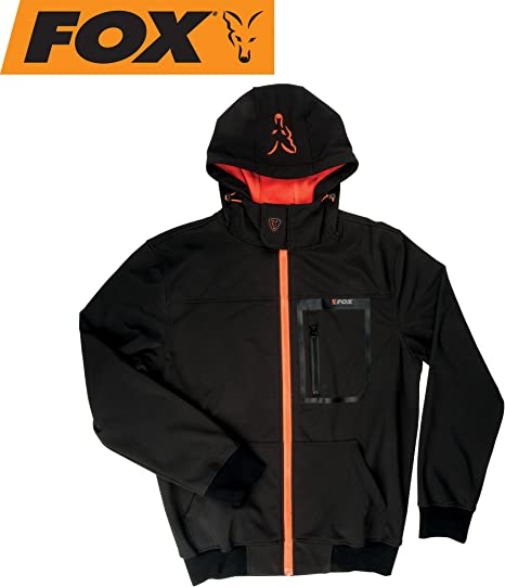 Fox Black Orange Softshell Jacket