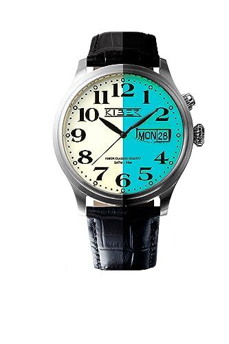 Kiber Iluma 3010/1052 - Reloj de pulsera para hombre (cuarzo, retroiluminado)