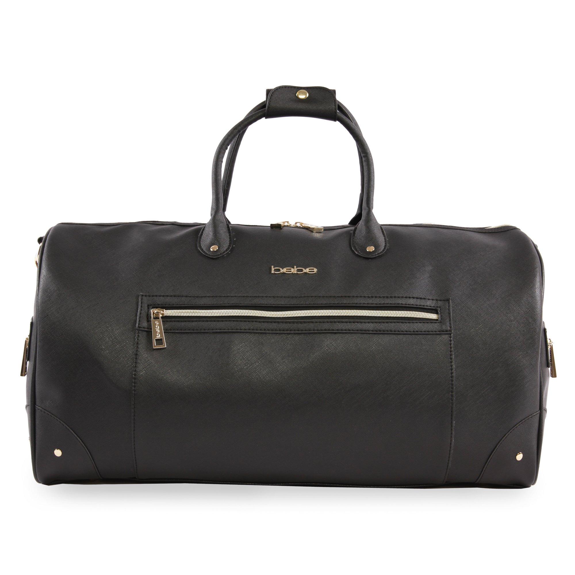 BEBE Women's Demi Travel Weekender Bag, Black, One Size