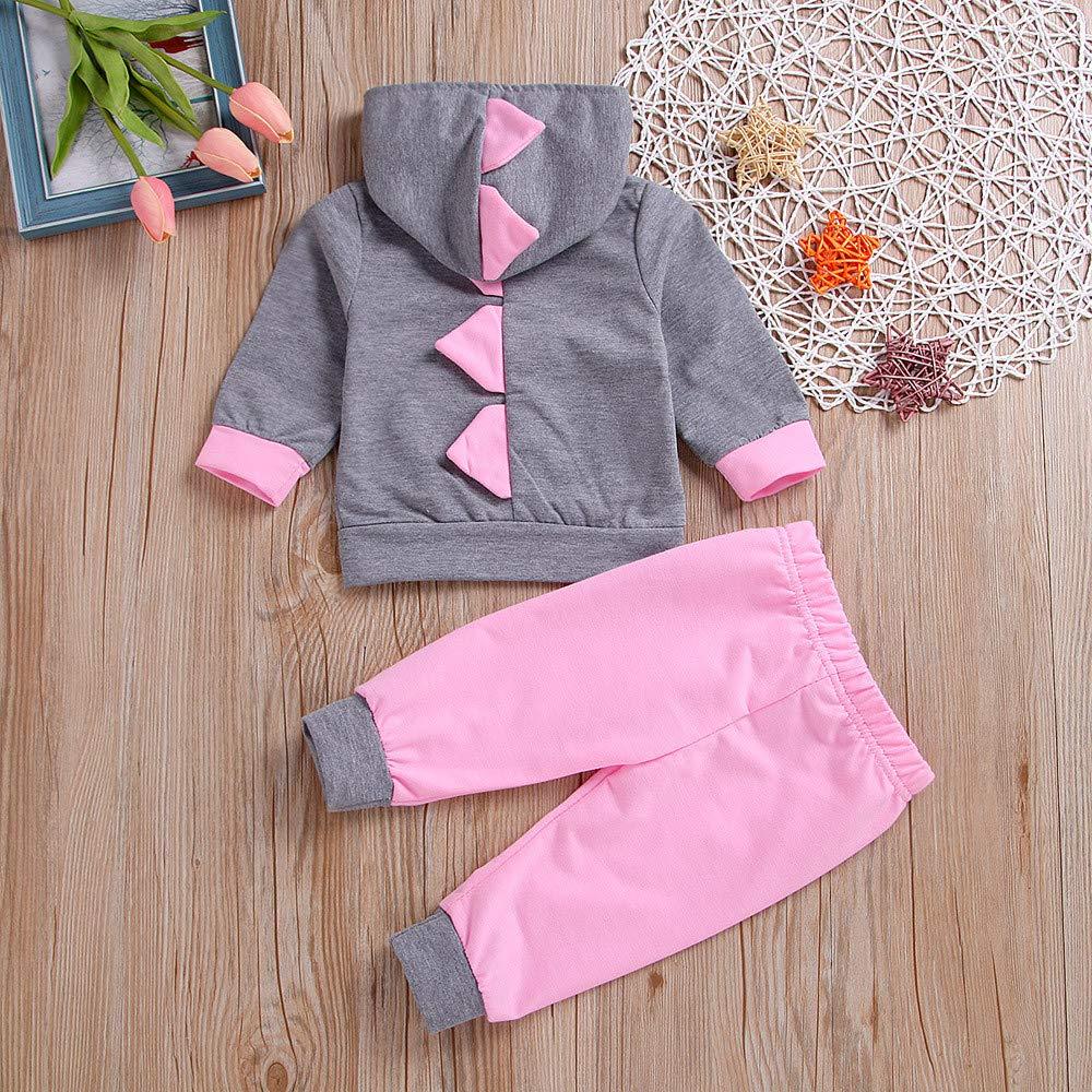 fb96181d0e2781 Kinlene Vestiti Bambino Maschio Dinosaur Neonata Appena Nata 3D Con  Cappuccio Tops T-Shirt Pantaloni Delle Ghette Outfit Abbigliamento:  Amazon.it: ...
