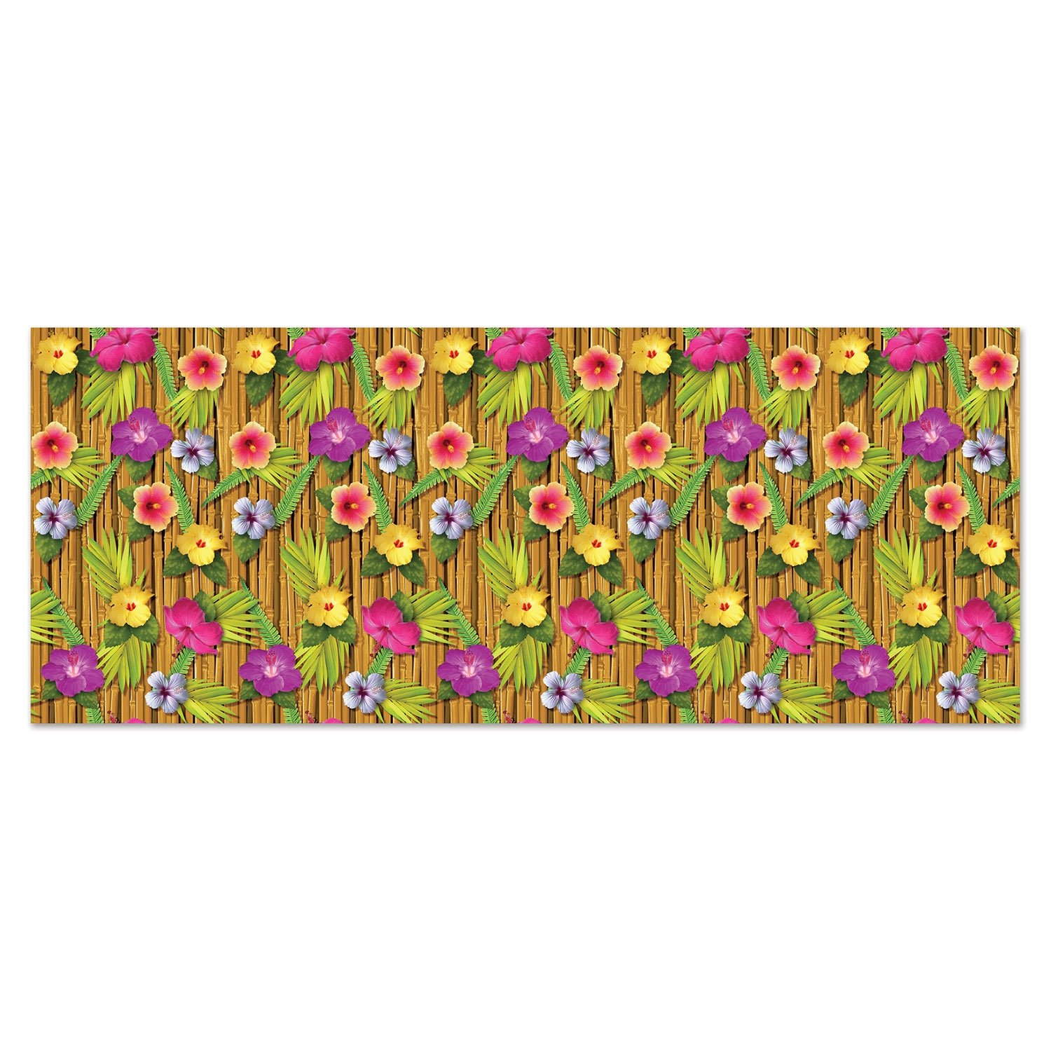 Beistle 52128 Luau Backdrop, 4' x 30', Multicolored by Beistle