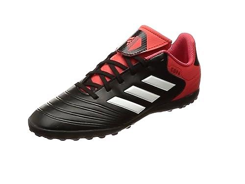 adidas Unisex-Kinder Copa Tango 18.4 TF Fußballschuhe, Schwarz (Core Black/Footwear White/Real Coral), 36 EU