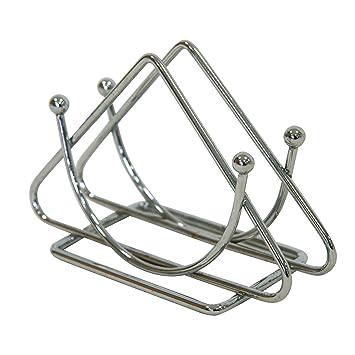 kela Serviettenhalter Globul 14,5x8x4cm aus Metall verchromt 14.5 x 4 x 8 cm Silber Chrom