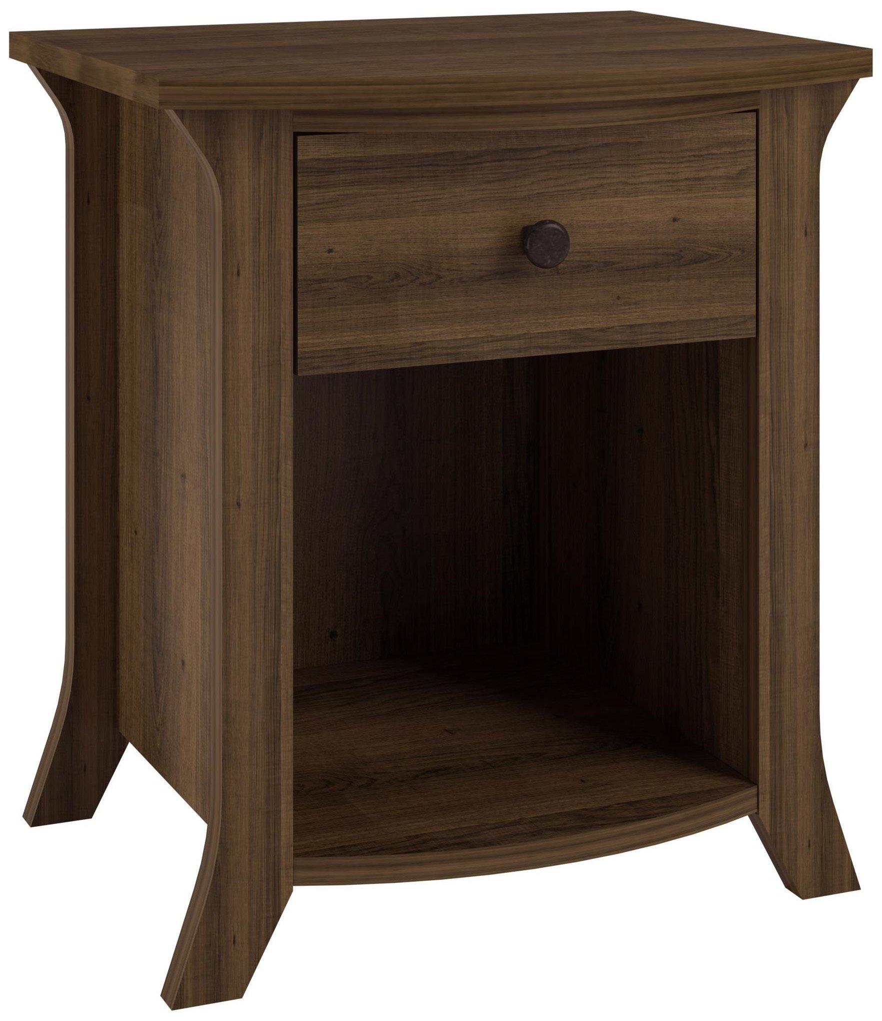 Altra Furniture Ameriwood Home Oakridge Accent Table, Brown Oak