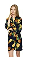 Zarachilable Women Cotton Pineapple Floral Robe bride robe bridesmaid kimono Robe,night Dress Gown