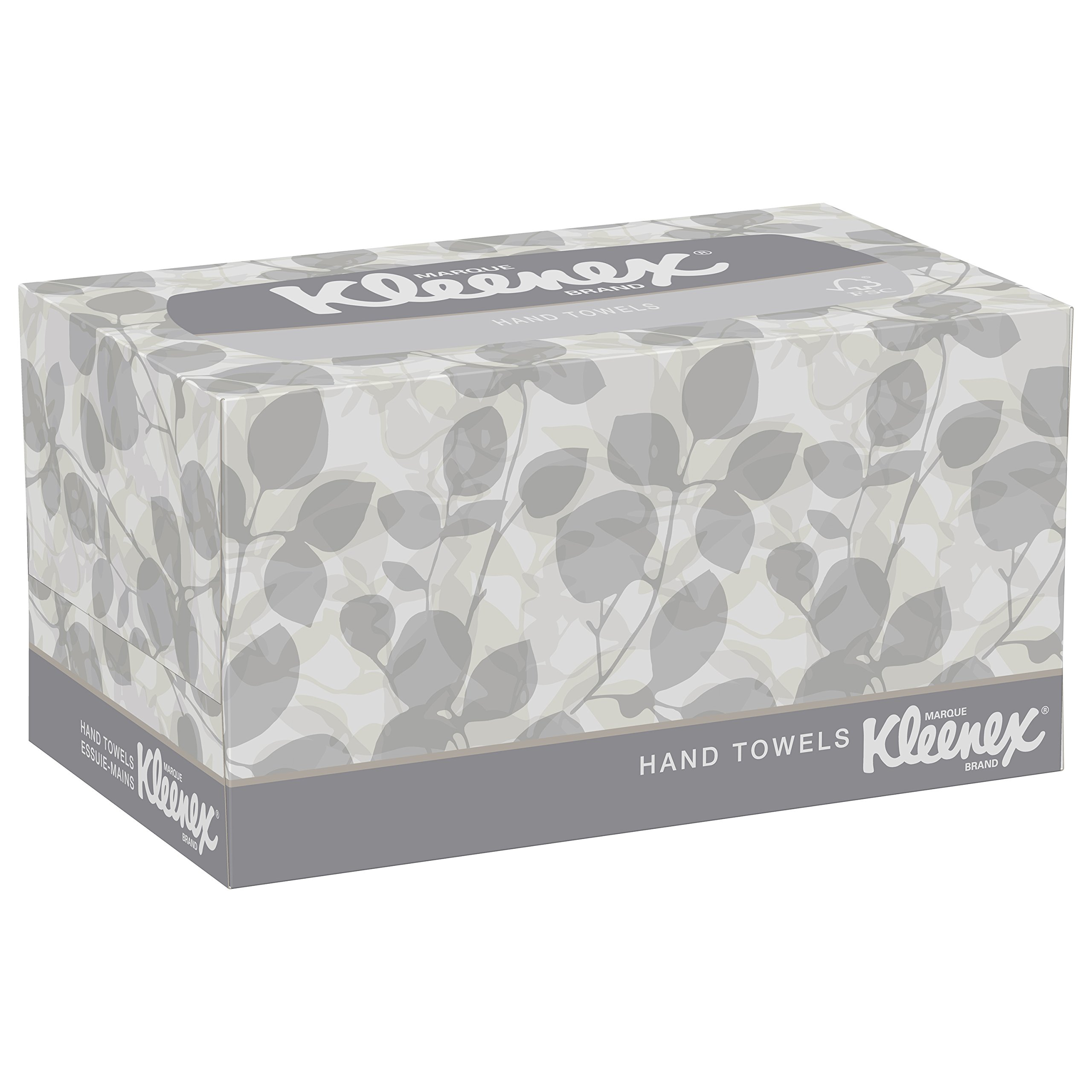 Kleenex Hand Towels with Premium Absorbency Pockets (01701), Hygienic Countertop Pop-Up Box, White, 120 Sheets/Carton, 18 Cartons/Case