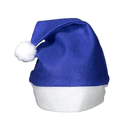f1d5574b8165a Amazon.com  (12 Pack) Blue Felt Christmas Santa Hats  Arts