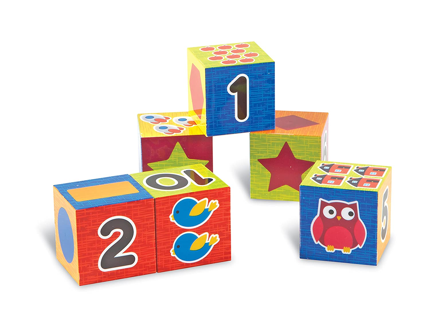 Learning Resources Numbers Shapes Puzzle Blocks Set of 6