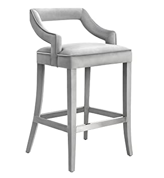 Wondrous Tov Furniture Tiffany Collection Handmade Velvet Counter Stool Grey Alphanode Cool Chair Designs And Ideas Alphanodeonline