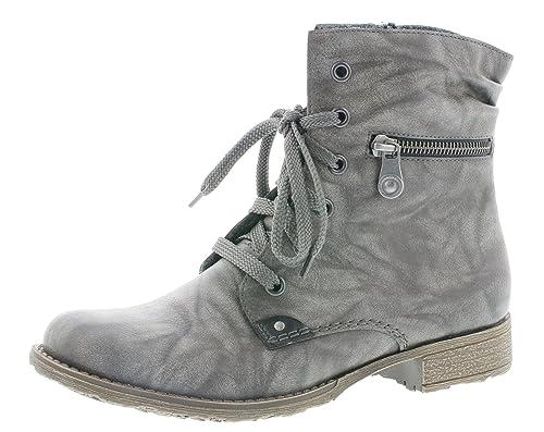 boots Damen blockabsatz frauen 7cm Stiefel 2 Schnürstiefelette schnürboots 708f9 flach Rieker bootie halbstiefel 8wN0nm