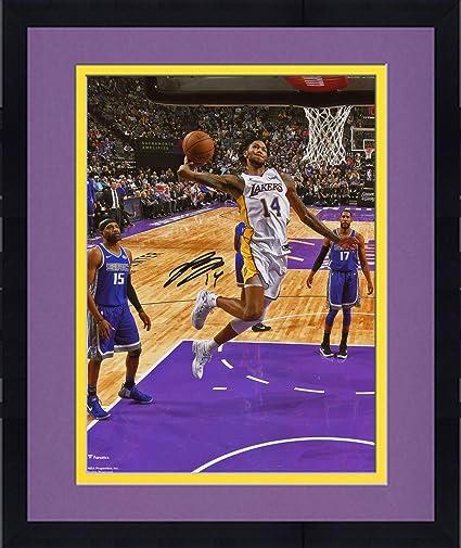 c1b8b8c08 Framed Brandon Ingram Los Angeles Lakers Autographed 8 quot  x 10 quot   Dunk Photograph - Fanatics