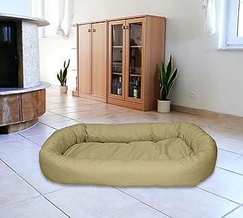 Cama Ovalada meggi perro (Talla M 70 x 90 Perros sofá Dormir Espacio Soft cama color: Beige nº 21: Amazon.es: Productos para mascotas