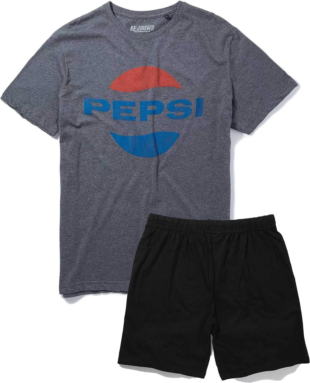 Carbone e Nero Recovered Pepsi Pigiama Classico con Logo Ovale Colore