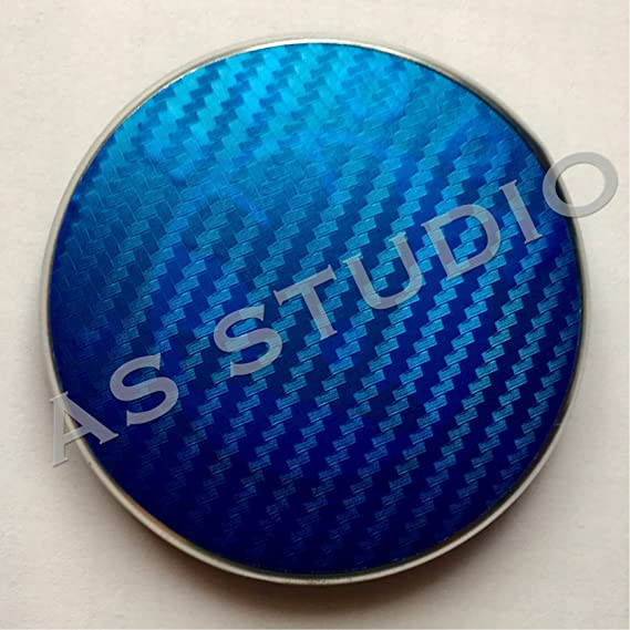 2x 90mm Emblem Folie Carbon Blau Auto