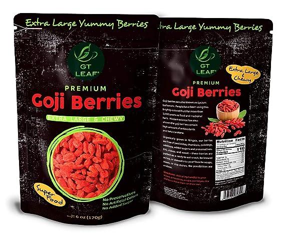Premium Extra Large Chewy Goji Berries 6oz 170g Usda Organic