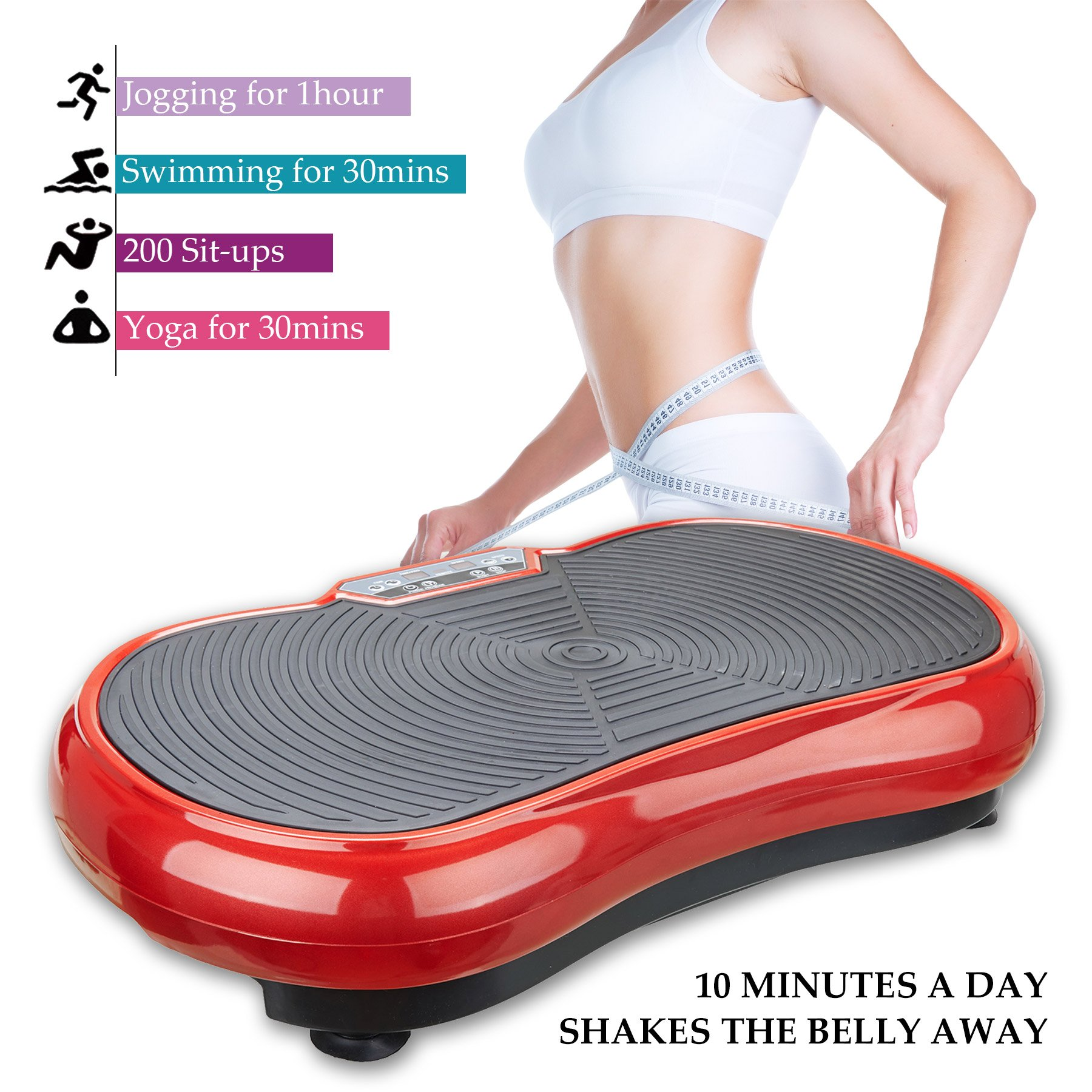 Pinty Fitness Vibration Platform - Whole Body Vibration Machine Crazy Fit Vibration Plate with Remote Control and Resistance Bands by Pinty (Image #6)