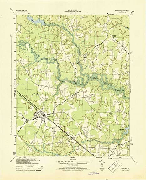 Amazon.com: YellowMaps Waverly VA topo map, 1:31680 scale, 7.5 X
