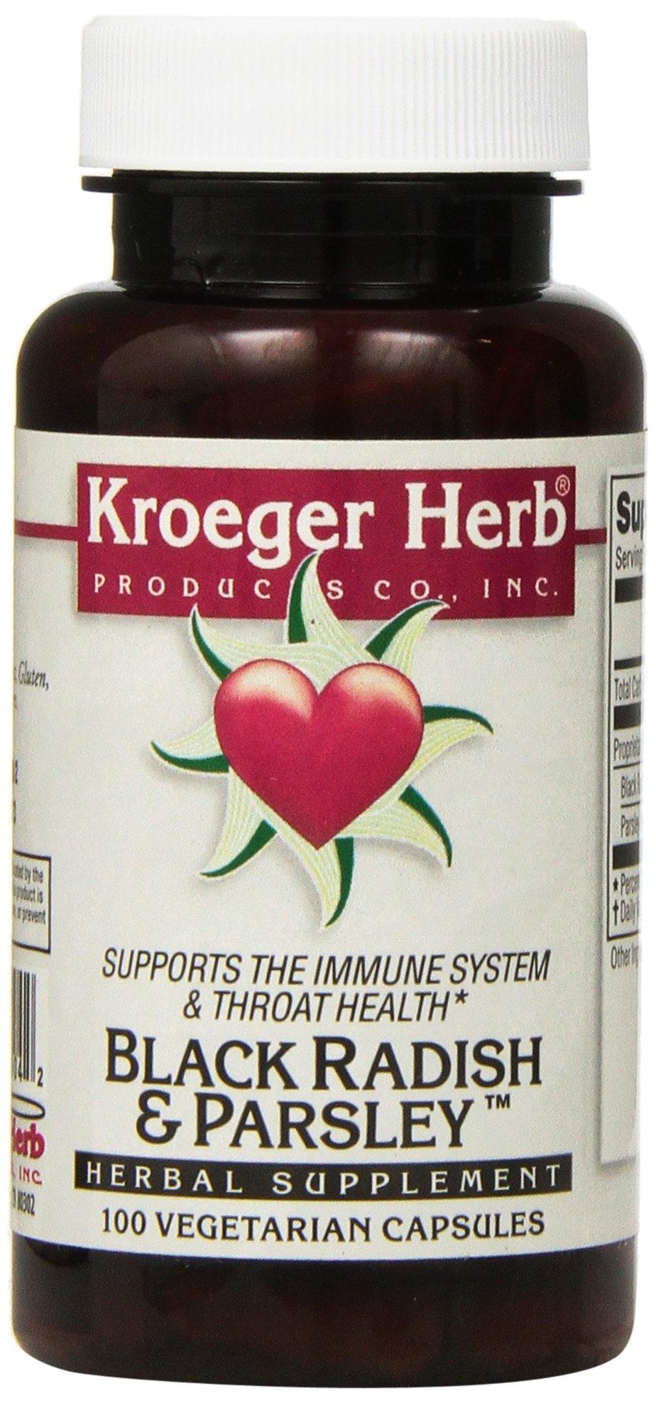 Kroeger Herb Black Radish and Parsley Capsules, 100 Count