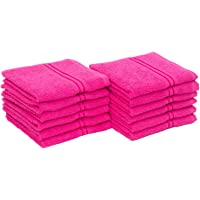 HomeStrap Classic Face Towel Set - 380 GSM - Pack of 12