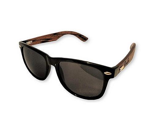 c3a08effd1924 RUSTYGEAR Ebony Wooden Sunglasses Polarized Wayfarer style for Men ...
