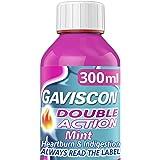 Gaviscon Heartburn and Indigestion Liquid, Double Action, Mint Flavour, 300 ml