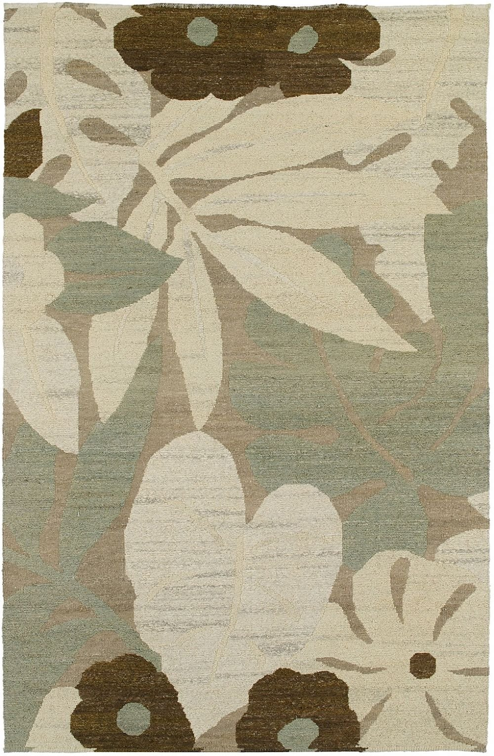 Kaleen Contemporary Rectangle Area Rug 5'x7'9'' in Spa Color From Mallard Creek Collection