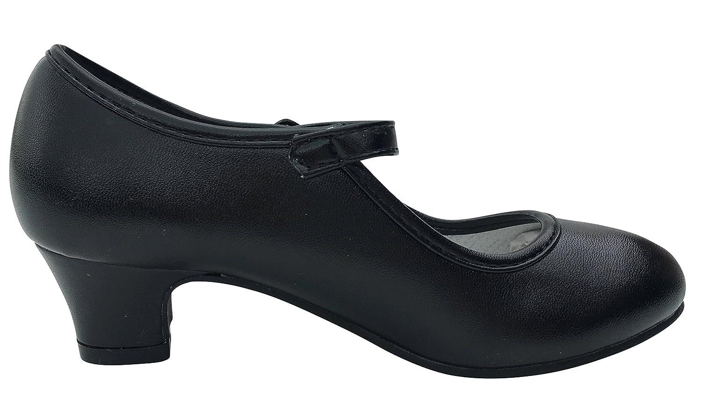 La Se/ñorita Zapato Flamenco baile Sevillanas ni/ña o mujer negro