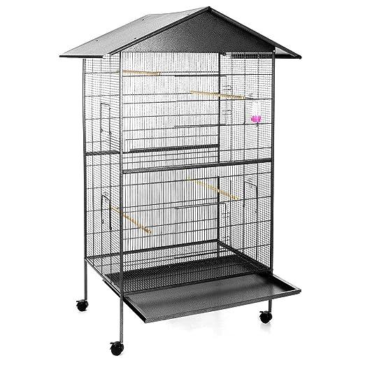 Happypet® Pajarera, jaula para pájaros y roedores, tamaño ...