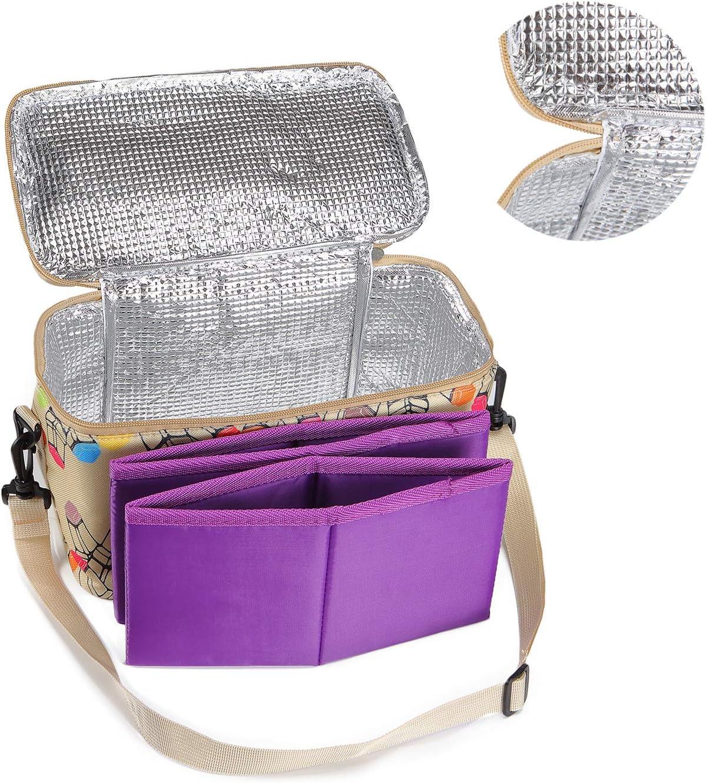 Toprema New Marker Pen Case Holder Multifunctional for 120 Markers Zipper Storage Bag with Pattern Khaki