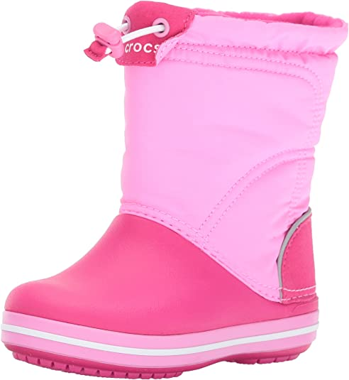 crocs Crocband LodgePoint Pull-On Boot (Toddler/Little Kid), Candy Pink/Party Pink, 12 M US Little Kid