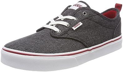 Vans Unisex-Kinder Atwood Slip-on Sneaker, Blau (Checkered Textile), 31.5 EU