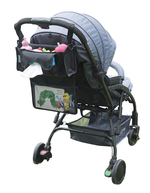 GeoBaby Extra Storage Stroller Organizer, Modern and Universal Design Fits All Strollers, Baby Shower Idea