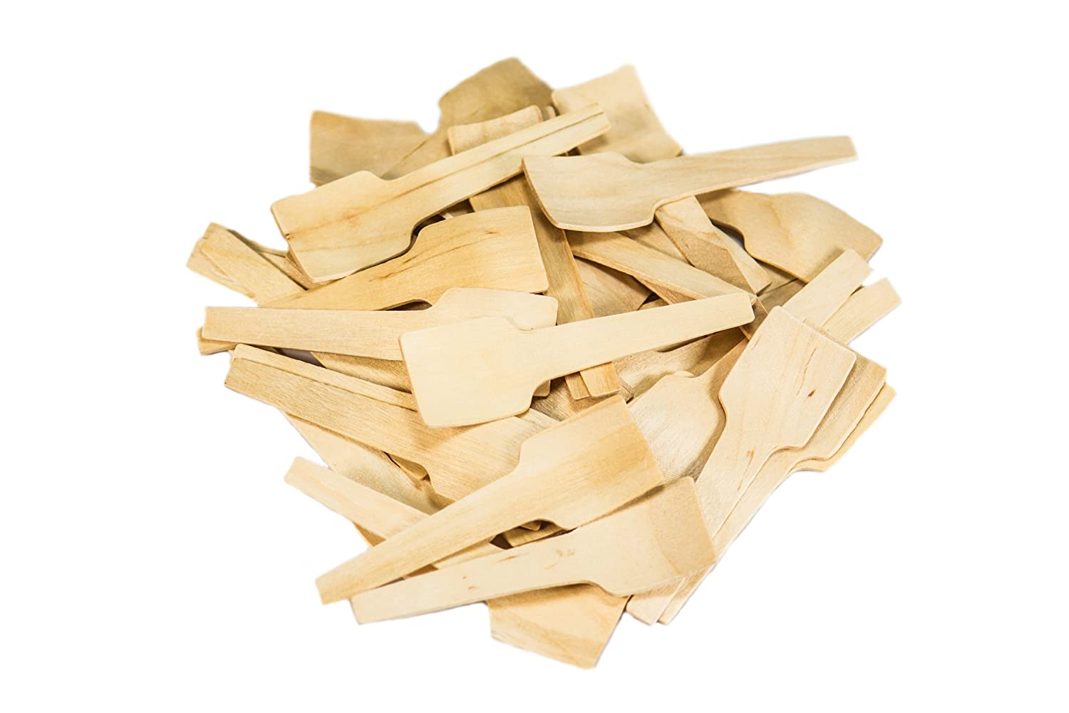 Pack of 100 Perfect Stix Scoop 69-100ct 2.75 Birchwood Taster Spoons with Square Concave
