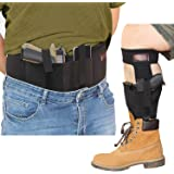 CREATRILL Bundle of Belly Band Holster + Ankle Holster for Concealed Carry, Neoprene Hand Gun Waist Band | Non Slip Ankle Pis