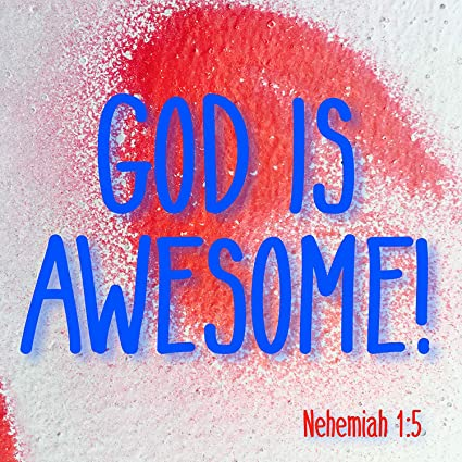Amazoncom Bible Quotes Belfast Plaque God Is Awesome Nehemiah 15