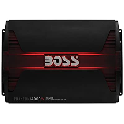 BOSS Audio Systems PD4000 Phantom 4000-Watt, 1, 2, 4 Ohm Stable Class D Monoblock Car Amplifier with Remote Subwoofer Control: Car Electronics