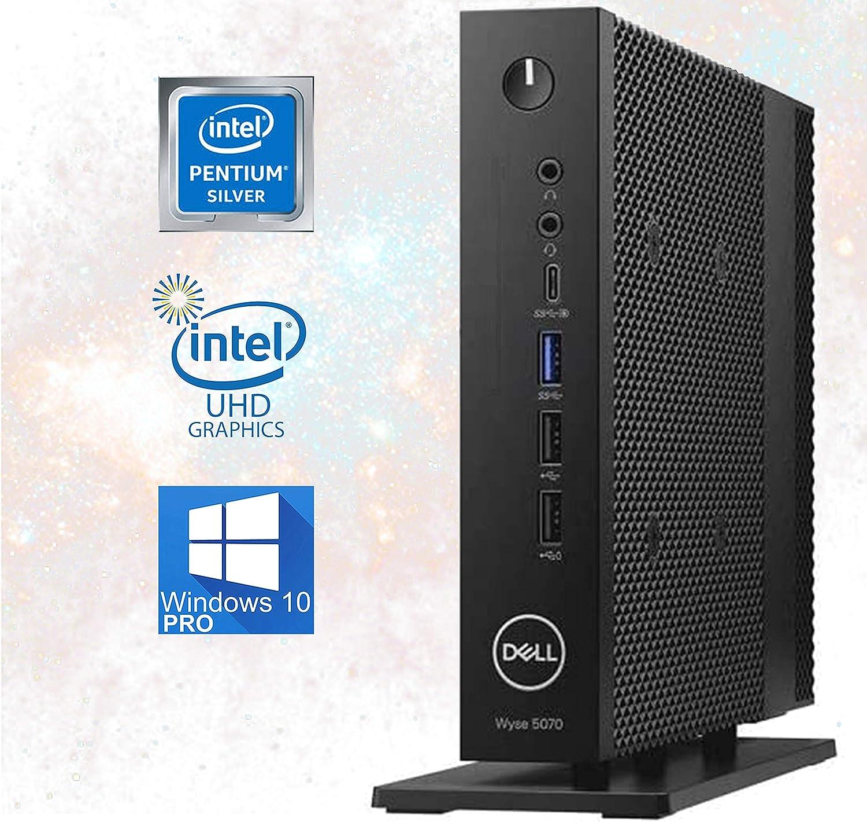 Dell Wyse 5070 Mini Desktop, Quad Core J5005 Pentium Silver Upto 2.80GHz, 16GB RAM, 512GB M.2SSD, USB 3.1, WiFi, Bluetooth, 4K UHD 3-Monitor Support, Display Port, HDMI - Windows 10 Pro