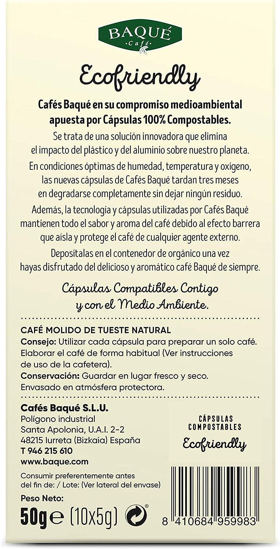 Cafés Baqué - 10 Capsulas Compatibles Nespresso Gran Aroma ...