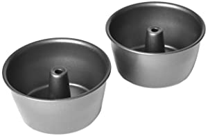 Chloe's Kitchen 201-504 Angel Cake Pan 2-Piece Set, Mini