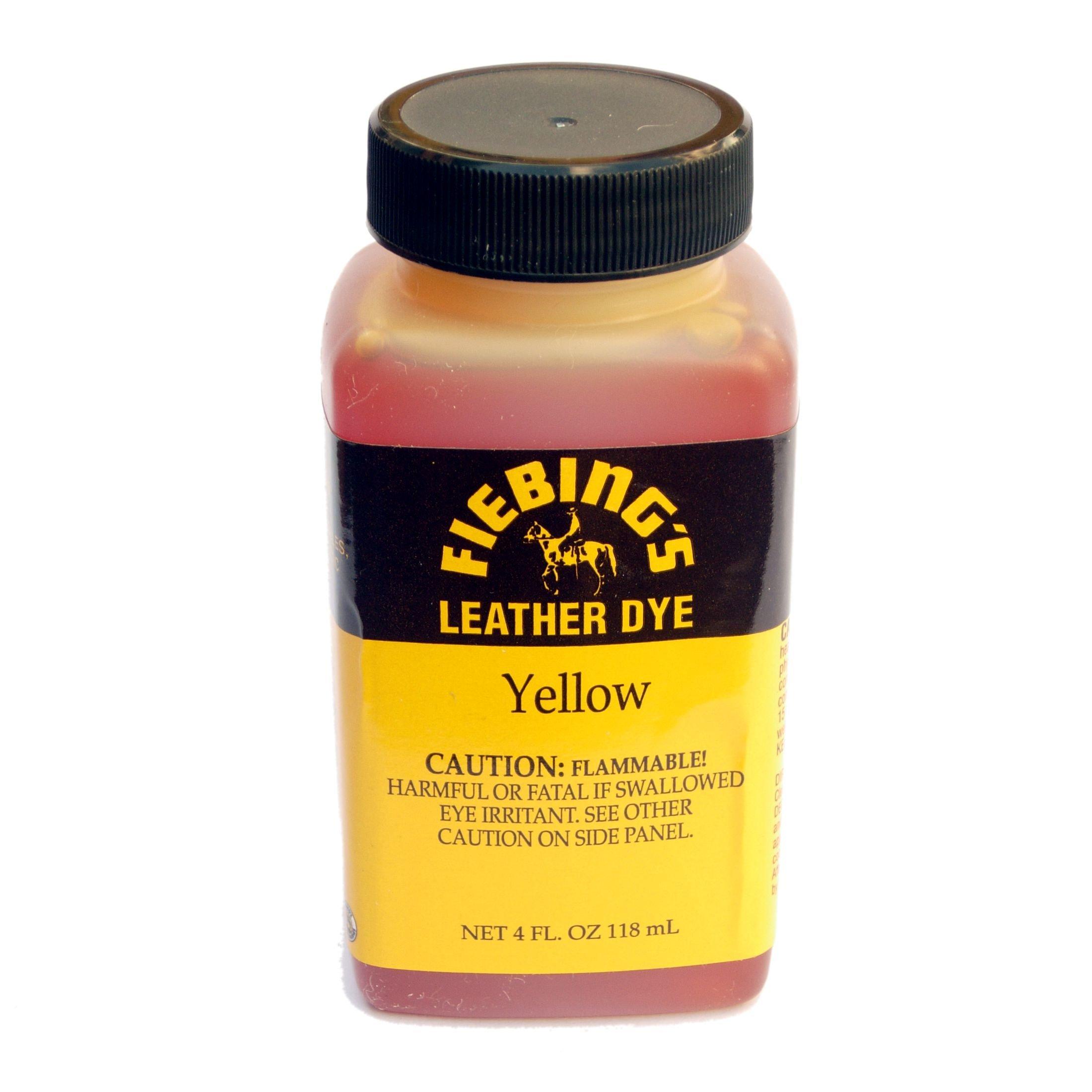 Fiebing's Leather Dye 4 Fl. Oz. (118 Ml) - 27 Colors (Yellow)
