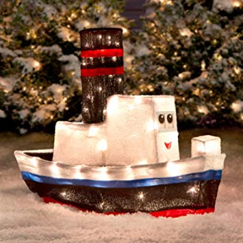 amazoncom rudolph misfit toys 3d boat outdoor christmastinsel decoration yard dec everything else - Misfit Toys Outdoor Christmas Decorations