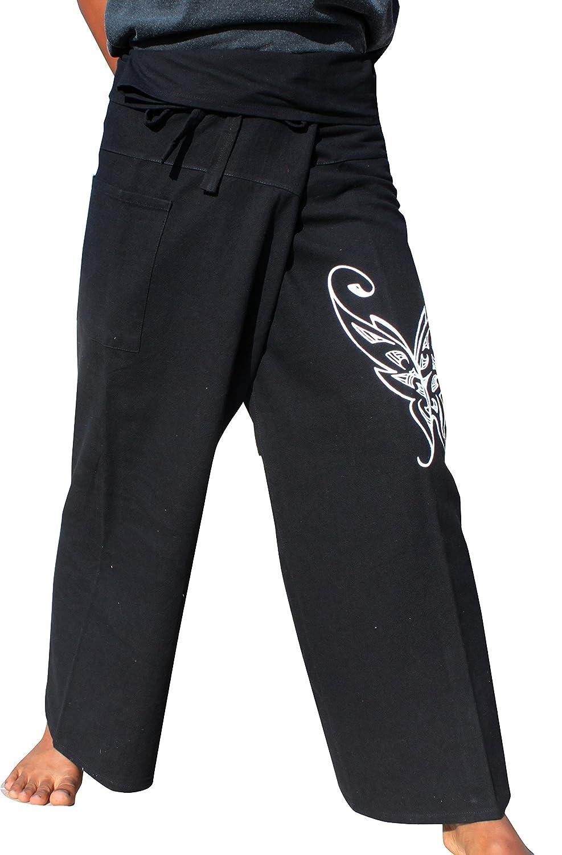 RaanPahMuang Cotton Fisherman Tie Dye Wrap Pants Light Summer Wear Mixed Cotton