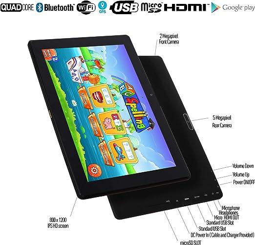 2 Go RAM 5 MP Camera Android 7.0 Nougat Mod/è le 2018 GPS IPS /É cran IPS 32 Go Disque USB GPS WiFi 2 HDMI Modèle 2018 Simbans TangoTab 10 Pouces Tablette pour Enfants 4 Bonus Android 7.0 Nougat Bluetooth