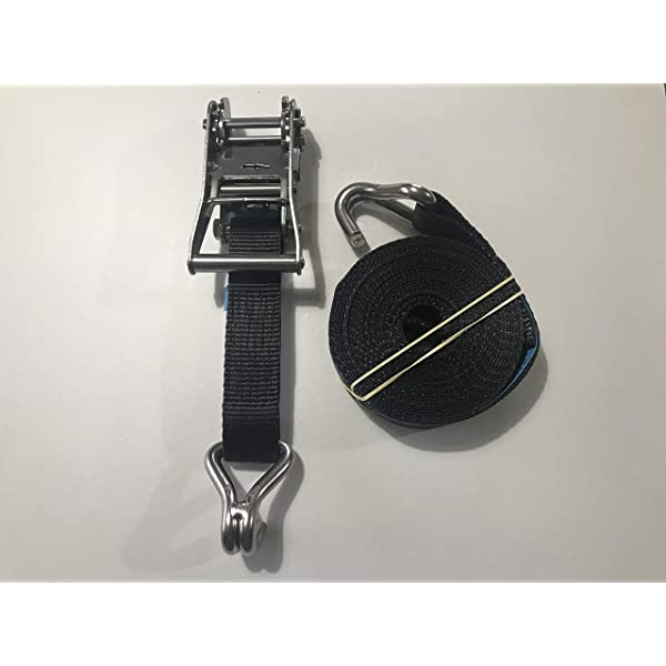 316 Marine Grade Stainless Steel Ratchet tie down strap Endless 25mm x 6m White
