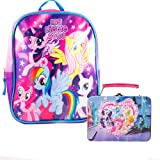 "My Little Pony Preschool Backpack Toddler (10"" Mini Backpack) with My Little Pony Mini Lunch Box Tin with Puzzle"
