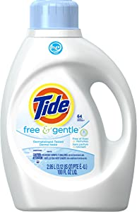 Tide Free and Gentle High Efficiency Liquid Laundry Detergent, 100 oz, 64 loads