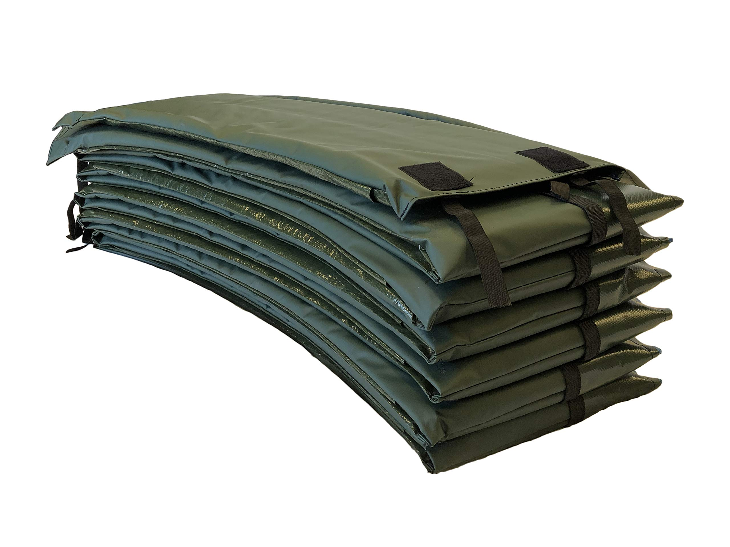 Trampoline Pro Trampoline Pads | Round 12ft & 14ft & 15ft | Square 13ft x 13ft & 14ft x 14ft | Blue and Green (Premium Green, 14 ft & 15 ft Premium)